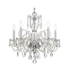 Crystorama Traditional Crystal 5 Light 22 inch Polished Chrome Chandelier Ceiling Light in Swarovski Spectra (SAQ), Polished Chrome (CH) Chandelier For Sale, Chandelier Ceiling Lights, Mini Chandelier, Brass Chandelier, Pendant Lighting, Chandelier Shades, Crystal Light Fixture, Light Fixtures, Candelabra Bulbs