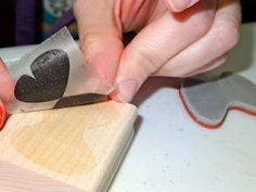 How to change wood mounted stamps to clear!