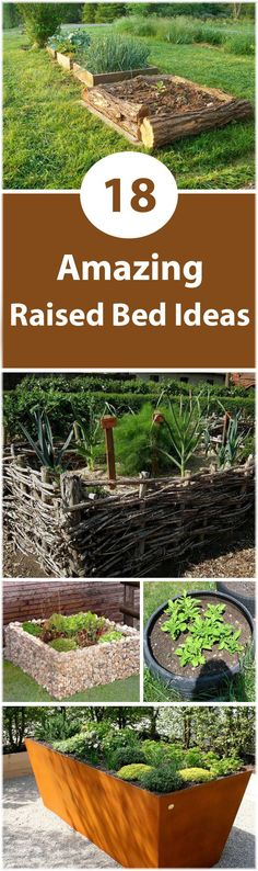 See these 18 raised bed ideas for your garden. Raised bed gardening improves the productivity and decreases the labor.