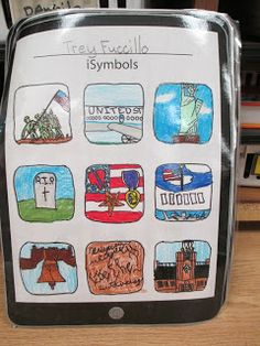 Fabulous in Fourth!: iSymbols (US).great for the end of the US symbols study! Great Idea for Nebraska's state symbols! 3rd Grade Social Studies, Social Studies Classroom, Social Studies Activities, History Activities, Teaching Social Studies, Teaching Tools, Teaching Ideas, Activities For 1st Graders, Patriotic Symbols
