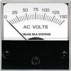 Blue Sea 8244 AC Analog Micro Voltmeter - 2 Face, 0-150 Volts AC
