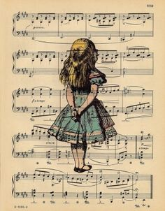 Love this idea...portrait on sheet music