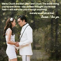 Wonderful show, too bad it's over. Chuck and Blair were my favorite. True love.