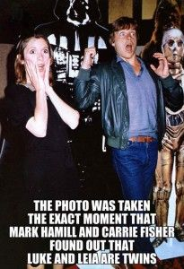 If this is true, that's hilarious! I think the audience likely had the same reaction... Star Wars funny