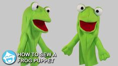 How to Sew a Frog Puppet Puppet Patterns, Sewing Patterns, People Puppets, Frog Puppet, Animal Hand Puppets, Felt Puppets, Fleece Patterns, Bible Crafts For Kids, Cute Frogs