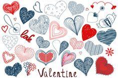 Check out Hand Drawn Valentine Decoration Set by julymilks on Creative Market