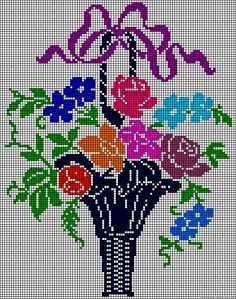 Flowers bouquet perler bead pattern