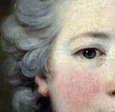 nataliakoptseva:  Louis Tocqué - Portrait of Mademoiselle de Coislin Detail