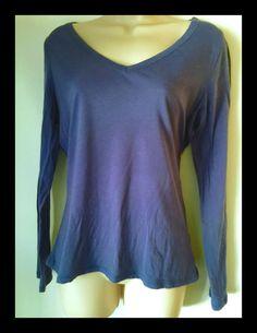 Women's Soft Light Fitted Blue T-Shirt Top Boden V-Neck Long Sleeve Uk 12 Us 8 - http://www.ebay.com/itm/321982940455?rmvSB=true