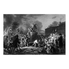 Pulling down the statue of George III Posters by warishellstore...INDEPENDENCE!