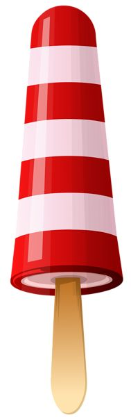 Red Striped Ice Cream PNG Clipart Image