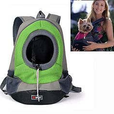 YAMAY® Soft Fabric Mesh Head Out Zipper Design Puppy Dog Pet Carrier Shoulder Carrying Bag Front Pack Backpack Dog Carriers for Small Breed Dogs Girl Boy Portable for Outdoor Travel Hiking Green - http://www.thepuppy.org/yamay-soft-fabric-mesh-head-out-zipper-design-puppy-dog-pet-carrier-shoulder-carrying-bag-front-pack-backpack-dog-carriers-for-small-breed-dogs-girl-boy-portable-for-outdoor-travel-hiking-green/
