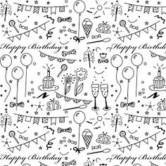 MeinLilaPark – DIY printables and downloads: Free printable birthday coloring paper - ausdruckbares Geschenkpapier - freebie