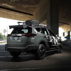 LRG has joined forces with automotive lifestyle mag DUB and Toyota USA for a custom 2015 Chevrolet Spark, Toyota Usa, Toyota Cars, 2016 Rav4, Rav4 2018, Jeep Scout, Adventure Car, 4x4, Car Mods