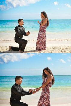 So in love with this destination beach proposal in Punta Cana.