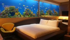 Hotel Located in Manila Ocean Park, Hotel is the first aquarium - themed integrated resort hotel in the Philippines. You have to try the Aqua room out -- it has a really big aquarium! Local Hotels, Hotels And Resorts, Best Hotels, Luxury Hotels, Unique Hotels, Beautiful Hotels, Beautiful Places, Hotels In The Philippines, Manila Philippines