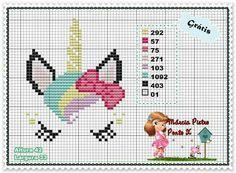 New Crochet Unicorn Graphgan Ideas Cross Stitch Horse, Unicorn Cross Stitch Pattern, Cross Stitch For Kids, Unicorn Pattern, Mini Cross Stitch, Cross Stitch Animals, Cross Stitch Charts, Cross Stitch Designs, Cross Stitch Patterns