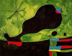 'Mensaje de friend', óleo de Joan Miro (1893-1983, Spain)