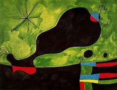 'Mensaje de un amigo', öl von Joan Miro (1893-1983, Spain)