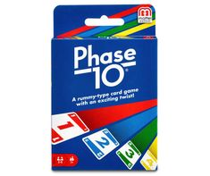 """Phase 10 is a rummy-style card game with a twist! Players are tasked to be the first to complete all 10 varied phases with numbered, """"skip"""" and """"wild"""" cards. Each phase is specific for each hand, meaning each player must complete one phase before advancing to the next round, making this exciting game perfect for the whole family. Games For Kids, Games To Play, Children Games, Dice Games, Super Fun Games, Family Card Games, Sequencing Cards, Typing Games, Family Game Night"""