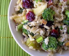 red quinoa broccoli salad 1 | Salads | Pinterest | Broccoli Salads ...