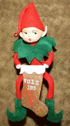 Clay elf pixie Christmas tree ornament