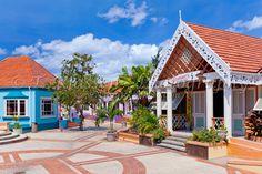 The Pelican Craft Center shopping complex near Bridgetown, Barbados, West Indies.