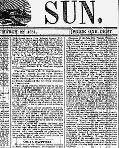 The Baltimore Sun's first obituary for a woman was on its front page for Celeste Winans on March 1861 after her death at age five days after delivering a stillborn child. Stillborn, Baltimore, Novels, Death, March, Child, Age, Woman, American