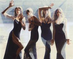 Claudia Schiffer, Linda Evangelista, Stephanie Seymour, and Christy Turlington, by Steven Meisel for Vogue September, 1993