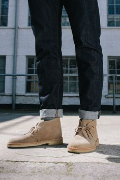 Desert Boot in Sand Suede #ClarksOriginals #Mens #Clarks #SS15 #Boots #Shoes #DesertBoots