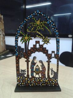 Pesebre en puntillismo All Things Christmas, Christmas Time, Auction Projects, O Holy Night, Christmas Nativity, Diy Projects To Try, Mosaic Art, Cross Stitch Patterns, Decoupage