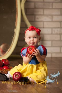 Snow White dress peasant dress princess inspired 6mos- 3t Custom on Etsy, $30.00