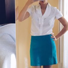 • The Limited Skirt • Adorable blue wool skirt. Lining is polyester ❌ No trades ❌ The Limited Skirts