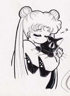 Sailor moon and Luna are the best of friends😘 Sailor Moon Crystal, Luna Sailor Moon, Sailor Jupiter, Sailor Venus, Sailor Mars, Sailor Moon Fan Art, Sailor Mercury, Manga Anime, Anime Art