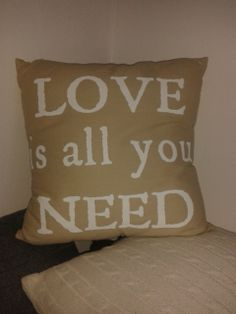 """""""LOVE"""" Pillow in my living room...*"""