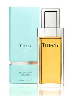 Tiffany Perfume..Top notes are black currant syrup and Italian mandarin, middle notes are violet leaf, lily of the valley, orange blossom, ylang ylang, iris, jasmine and Damascus rose. The base adds woody accords of sandalwood, vetiver, amber and vanilla.