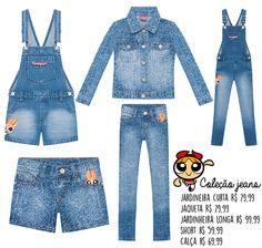 Coleção infantil jeans das Meninas Superpoderosas para a C&A