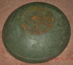 Maple Wooden Bowl Wonderful Green Painted Surface