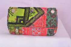 Vintage Indian tribal Banjara boho fabric clutch by IndianHippy