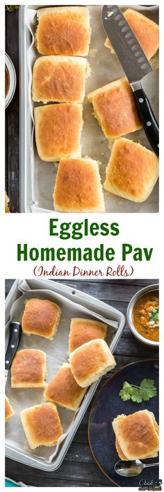 Enjoy them with some bhaji on the… Eggless Homemade Pav (Indian Dinner Rolls). Enjoy them with some bhaji on the… Veg Recipes, Indian Food Recipes, Baking Recipes, Baking Tips, Recipes Dinner, Drink Recipes, Dinner Ideas, Ayurveda, Gourmet