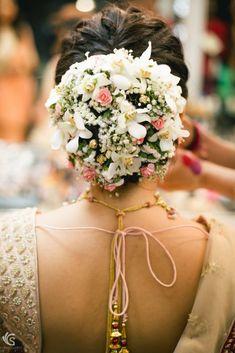 Clik to see amazing portfolio by Sandeep Gadhvi Photography - Bridal Hairstyle for Long Hair Bridal Wedding Hairstyle Mehendi Hairstyle. Indian Wedding Hairstyles, Bride Hairstyles, Hairstyle Wedding, Hair Wedding, Wedding Jewelry, Bridal Hair Buns, Bridal Hairdo, Mehendi, Super Hair