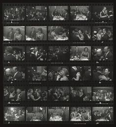 [El Morocco Contact Sheet] - So interesting to see how he took this shot!