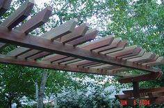 wood arbor for wisteria would be beautiful Pergola Garden, Pergola Swing, Pergola Shade, Pergola Kits, Gazebo, Pergola Cover, Wisteria Arbor, Wood Arbor, Faux Brick Walls