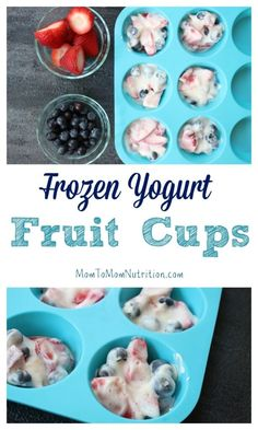 Frozen yogurt fruit
