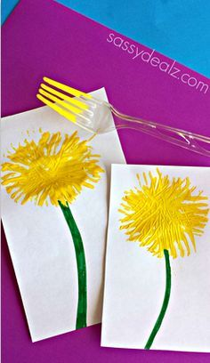 Kids Fireworks Craft Using a Fork - Crafty Morning Bear Crafts, Fish Crafts, Flower Crafts, Flower Art, Toddler Art, Toddler Crafts, Cool Art Projects, Projects For Kids, Spring Crafts For Kids