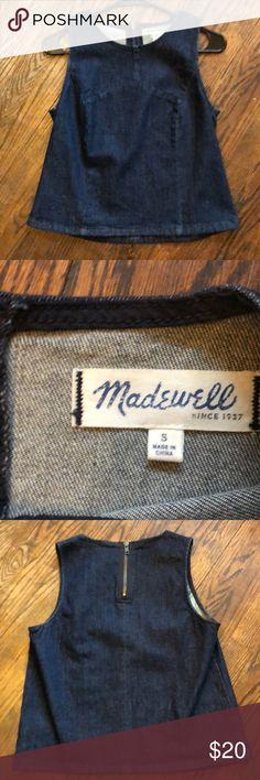 Madewell denim top Super cute denim top! Madewell Tops Blouses