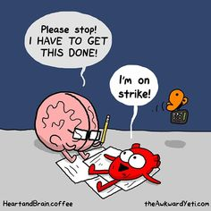 The Awkward Yeti : Happy Friday Funny Cartoons, Funny Comics, Funny Jokes, Hilarious, Funny Minion, Akward Yeti, The Awkward Yeti, Heart And Brain Comic, Funny Images