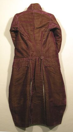 Coat  National Trust Inventory Number 1349101 Date1790 - 1800 MaterialsLinen, Silk CollectionSnowshill Wade Costume Collection, Gloucestershire (Accredited Museum)