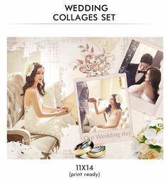 34 best # Wedding Collages Set - Just Married Photoshop Templates ...