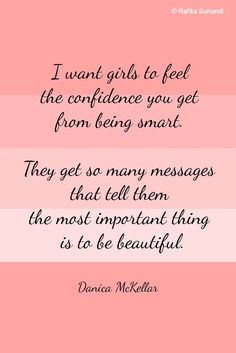 A lovely quote about girls and confidence ~ Art by Rafika Suhandi